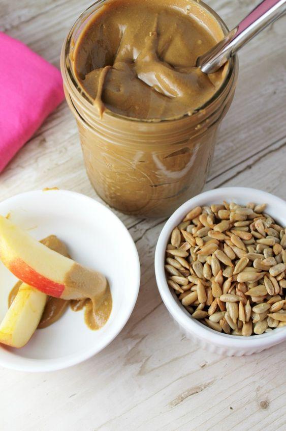 Alternative Nut Butters   paleo sunflower seed apples dip magnesium Vitamin E   Girlfriend is Better