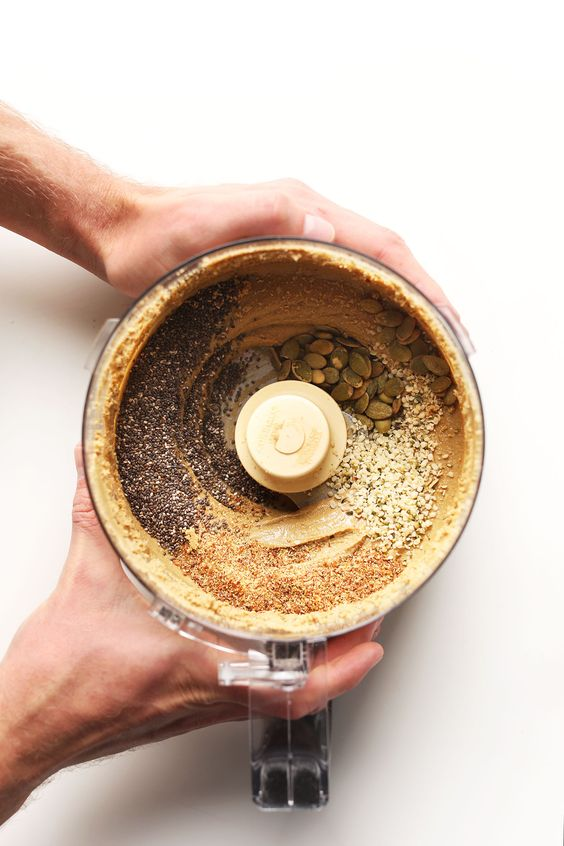 Alternative Nut Butters   Sunflower chia pepita seeds food processor vegan recipes   Girlfriend is Better