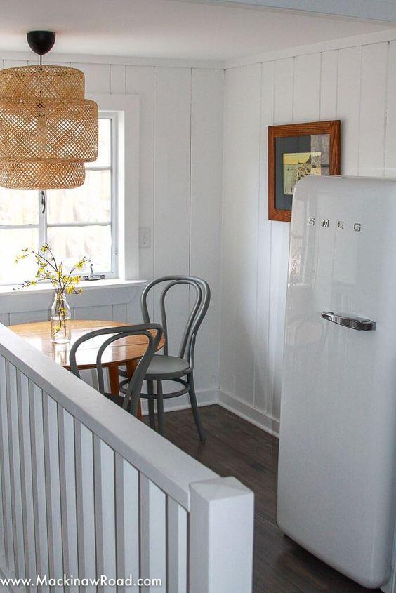 SMEG | White fridge in cottage | Girlfriend is Better