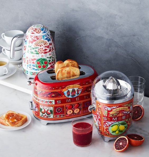 SMEG | Multicolored Sicilian inspired home appliances | Girlfriend is Better