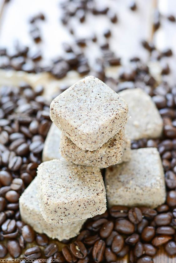 Sugar scrub | Coffee sugar scrub cubes in coffee beans | Girlfriend is Better
