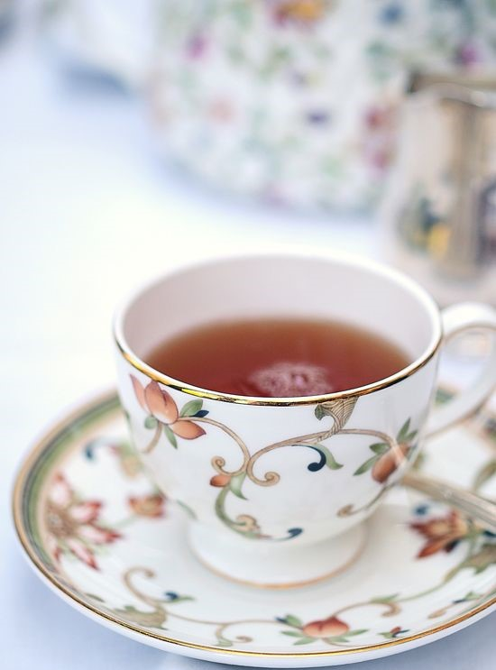 Afternoon Tea | tea in gold-rimmed cup | Girlfriend is Better