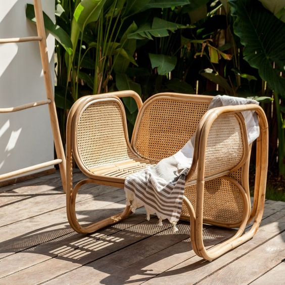 caned chairs   sturdy outdoor patio bamboo vintage   Girlfriend is Better