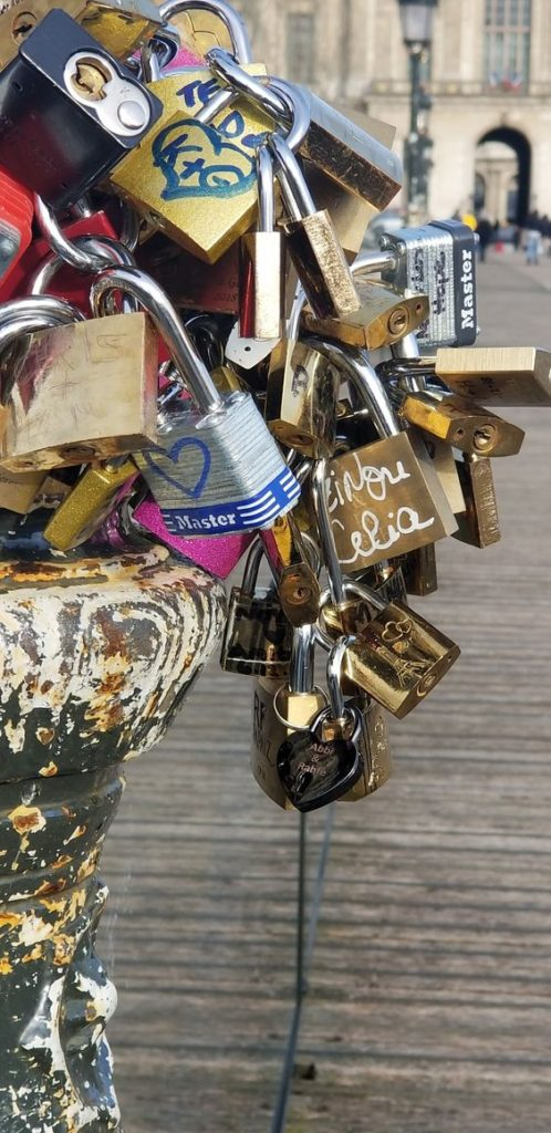 Paris Ground Zero   Pont des Arts bridge love locks padlocks   Girlfriend is Better