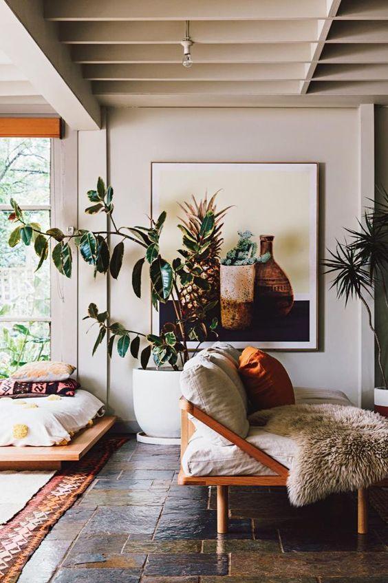 rubber plant | Bohemian tropical decor wood element | Girlfriend is Better