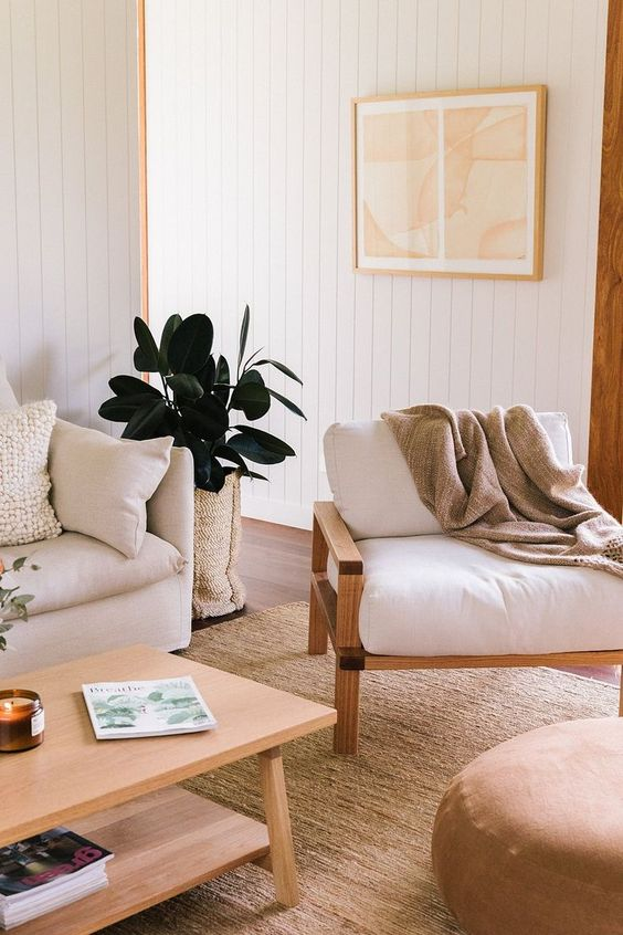 rubber plant | living room metal element white | Girlfriend is Better