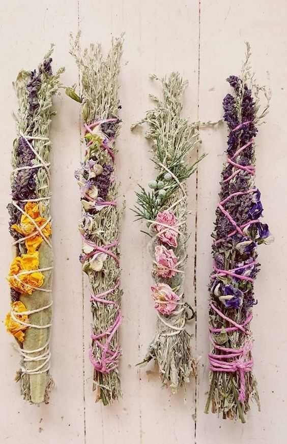 sage burning   lavendar smudge sticks hand-tied   Girlfriend is Better