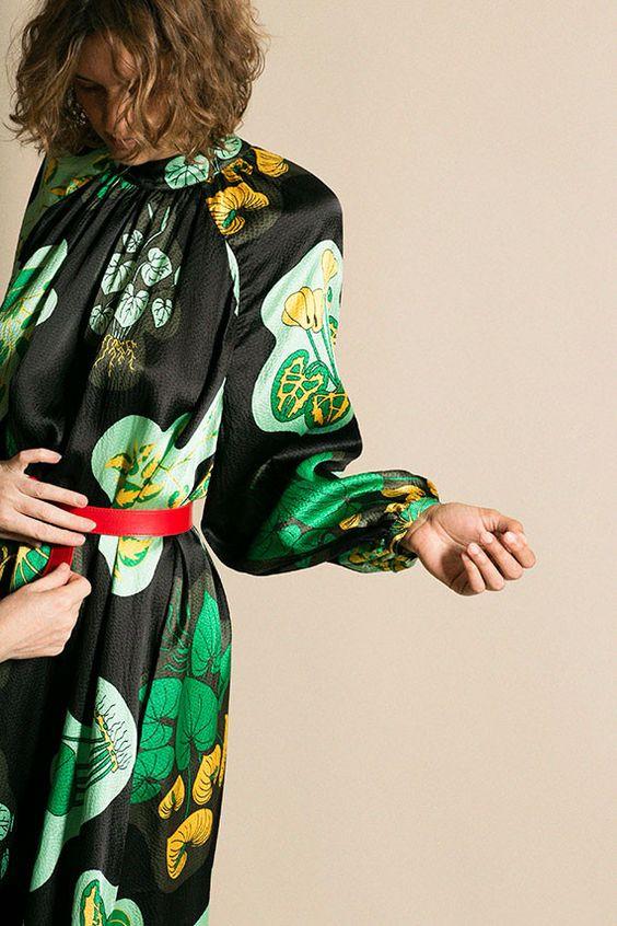 winter accessories | red belt black silk dress bourgeois Bohemian | Girlfriend is Better