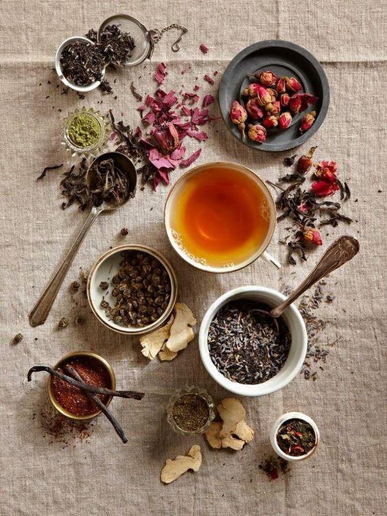 Home Tea Blends   Teacups dried herbs lavender   Girlfriend is Better