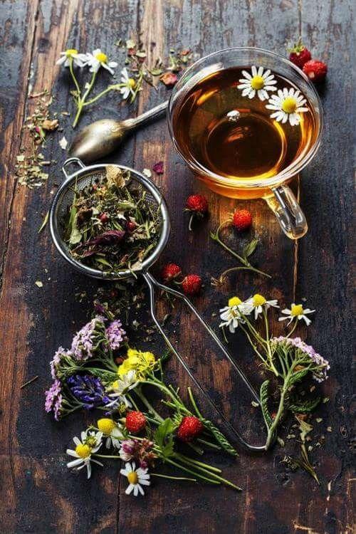 Home Tea Blends   Daisies strawberries dried herbs   Girlfriend is Better