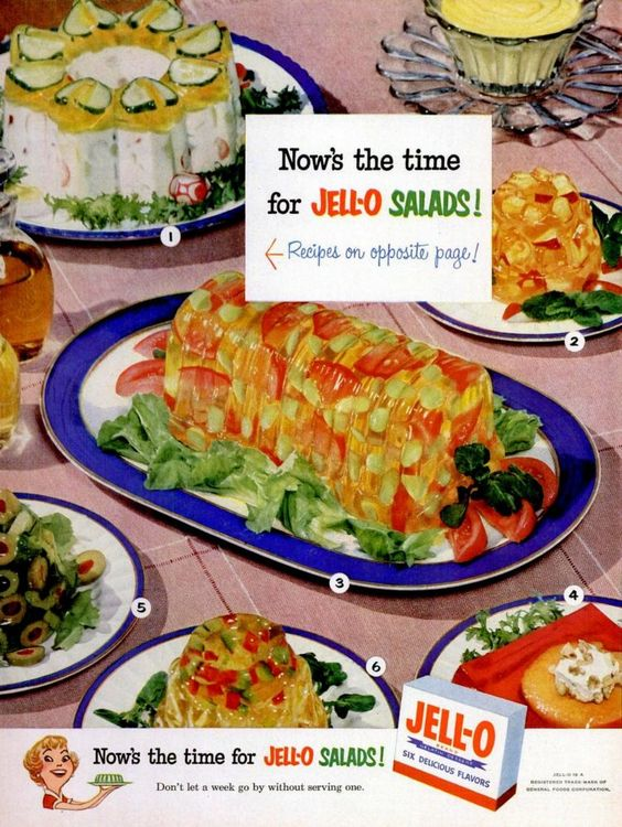 Jello Salads | Variety mold ad | Girlfriend is Better