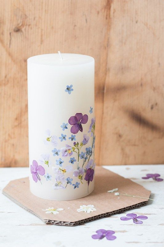 Preserved Bouquets   Pressed flower candle   Girlfriend is Better