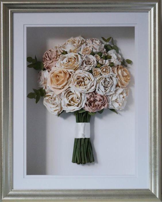 Preserved Bouquet   Framed dried flowers   Girlfriend is Better