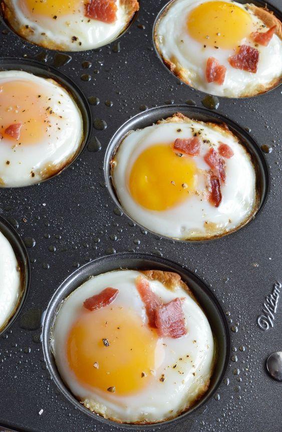 breakfast bites   sunny side up egg in muffin tin   Girlfriend is Better