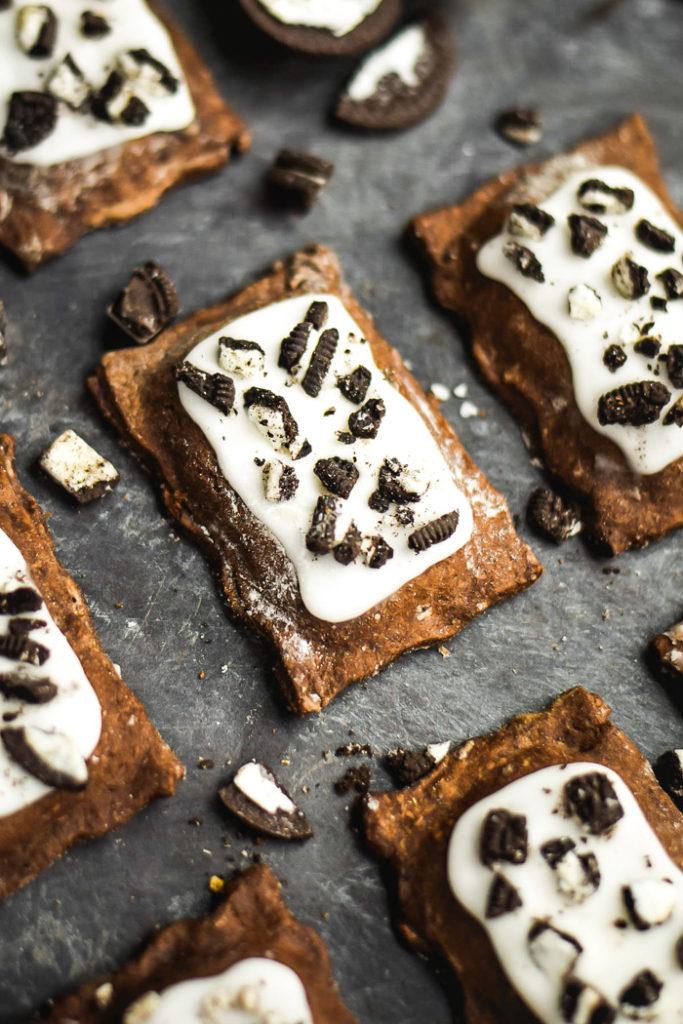breakfast bites | cookies cream homemade chocolate pop tarts recipe | Girlfriend is Better