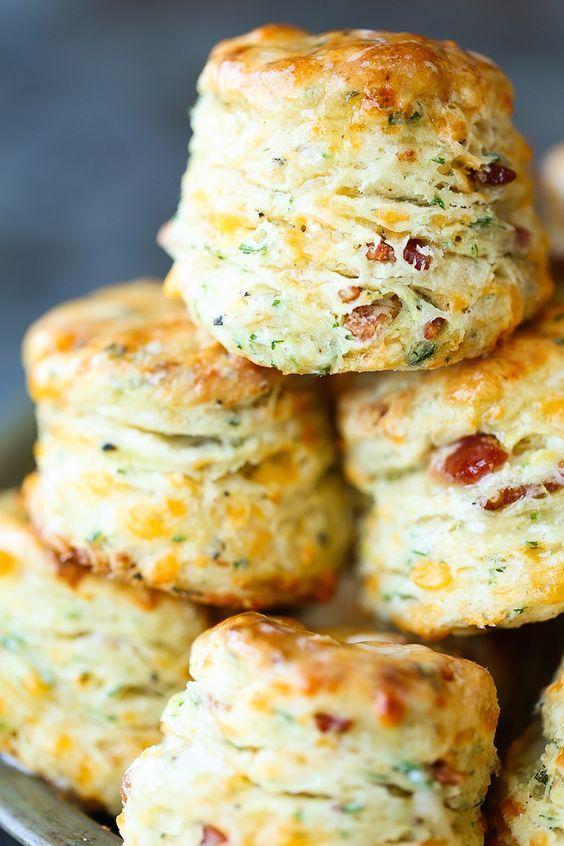 breakfast bites | Black Pepper Cheddar Bacon Biscuits recipe | Girlfriend is Better