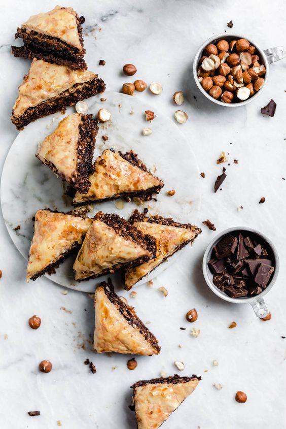 breakfast bites | Chocolate Hazelnut Baklava | Girlfriend is Better