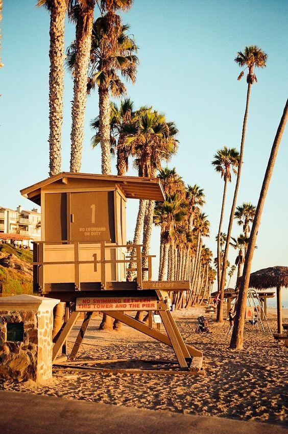 san clemente | sepia lifeguard tower at beach | Girlfriend is Better