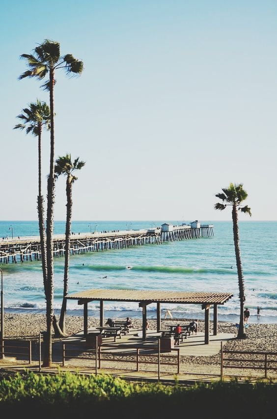 San Clemente | Pier beach outside picnic tables benches family| Girlfriend is Better