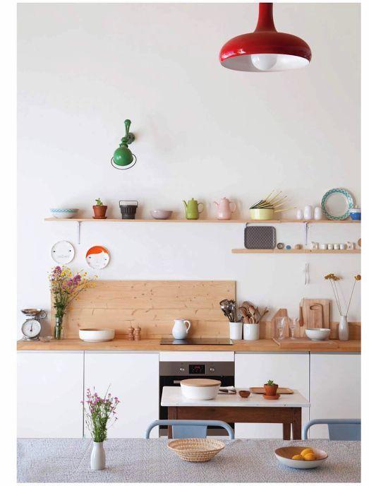 color blocking decor   minimalism kitchen hygge open shelving   Girlfriend is Better