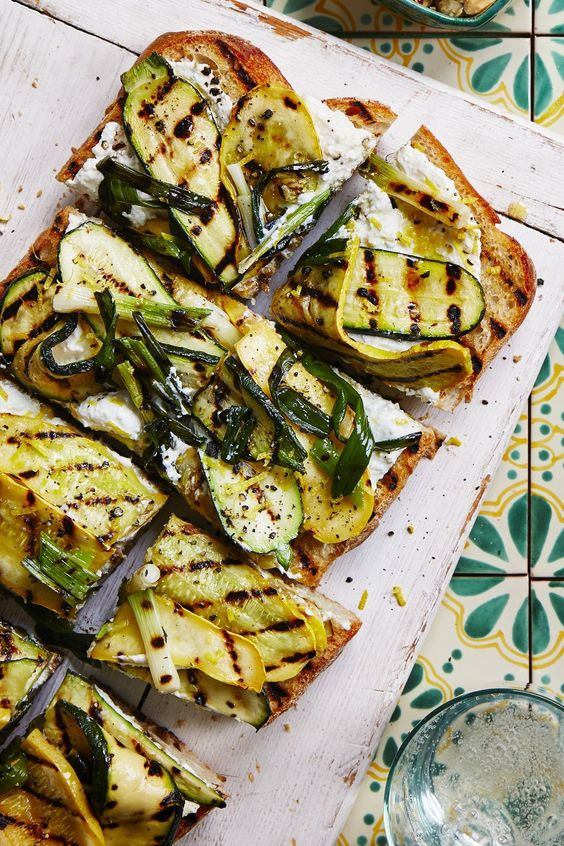 small meals | grilled squash garlic bread | Girlfriend is Better