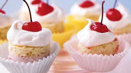 small meals | low-fat mini ice-cream cakes maraschino cherries | Girlfriend is Better
