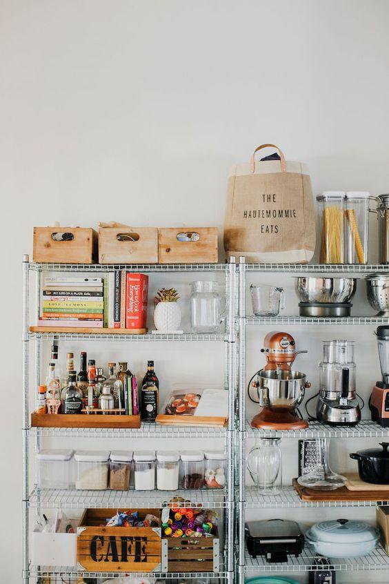 metal kitchen shelving | adjustable racks organization storage containers appliances baking | Girlfriend is Better
