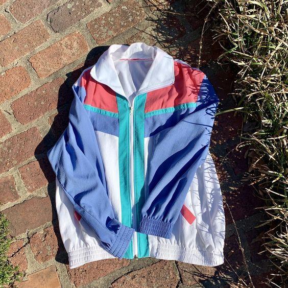 vintage windbreakers | Alfred Dunner 80s 90s light weight jacket | Girlfriend is Better