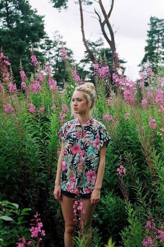 hawaiian shirts | hipster blouse floral summer | Girlfriend is Better