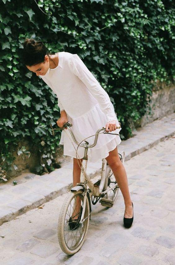 summer dresses | drop waist white ruffles long sleeve | Girlfriend is Better