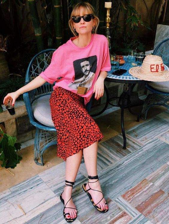 summer sandals   vividly dressed woman at trendy cafe   Girlfriend is Better