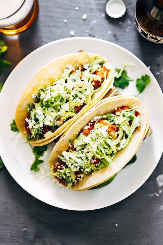 tacos   bright arrangement on a black backdrop   Girlfriend is Better