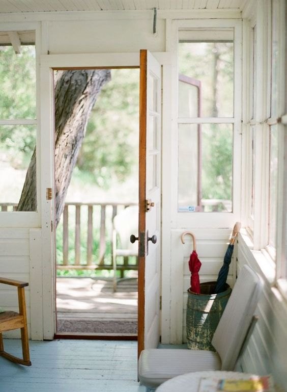 white interiors | porch entryway vintage paint country hygge | Girlfriend is Better