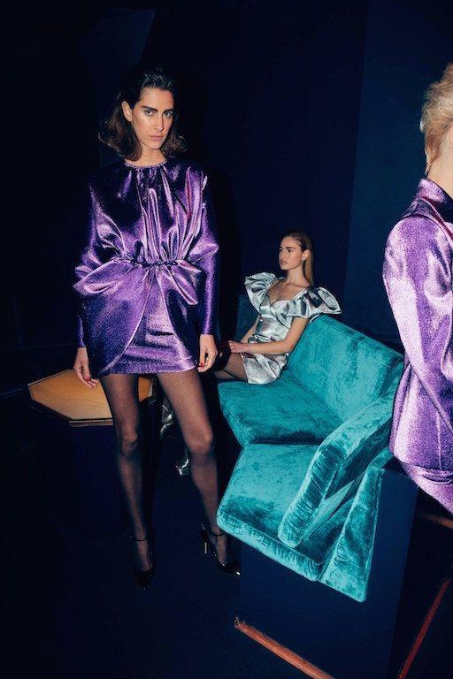 80s street chic | purple teal velvet Italian tailoring club party mini dresses | Girlfriend is Better