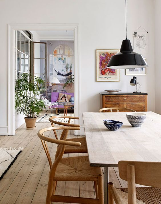 horseshoe chairs | dining table nordic decor hygge | Girlfriend is Better