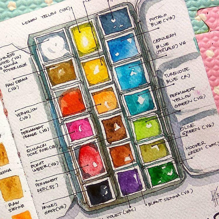 watercoloring | paint palette portable travel kit diy | Girlfriend is Better