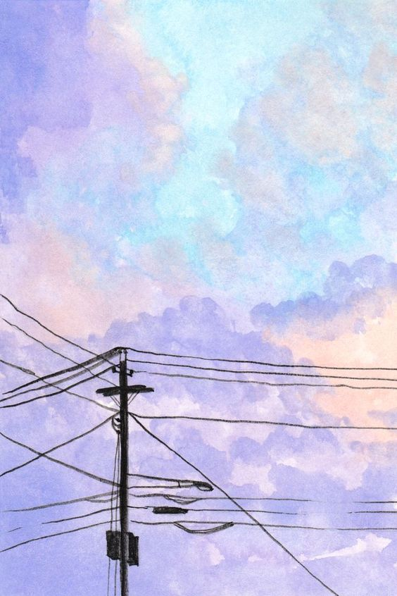 watercoloring | purple sky tutorials diy | Girlfriend is Better