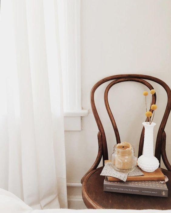 bentwood chairs   bedroom nook hygge decor minimalism   Girlfriend is Better