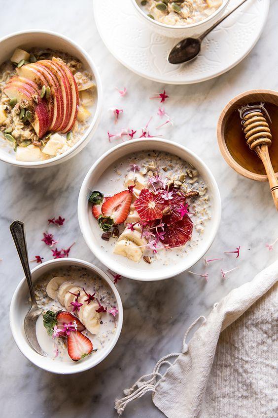oats recipes | Pecan banana Bread Overnight Oats coconut meal prep | Girlfriend is Better