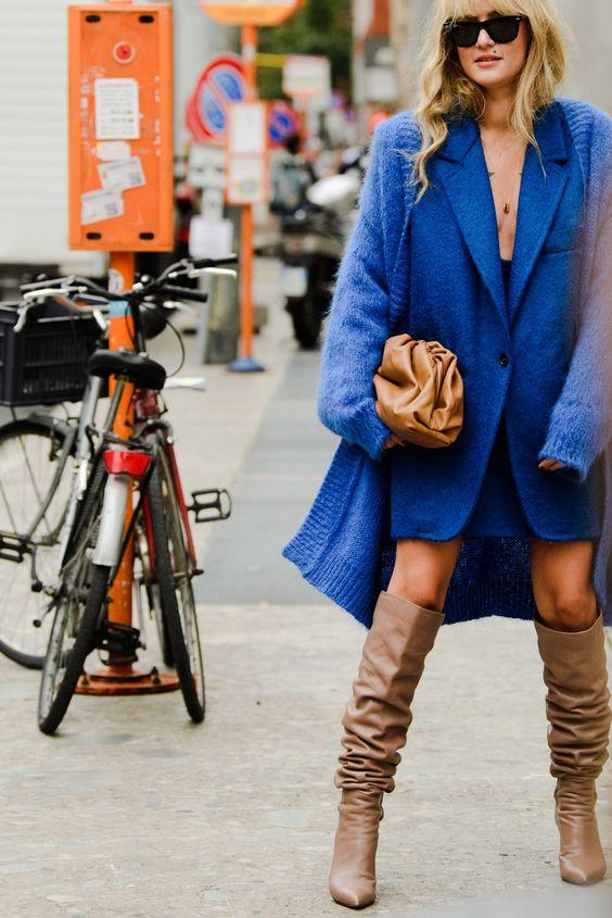 oversized clutches   slouchy winter fashion blazer leather neutrals   Girlfriend is Better