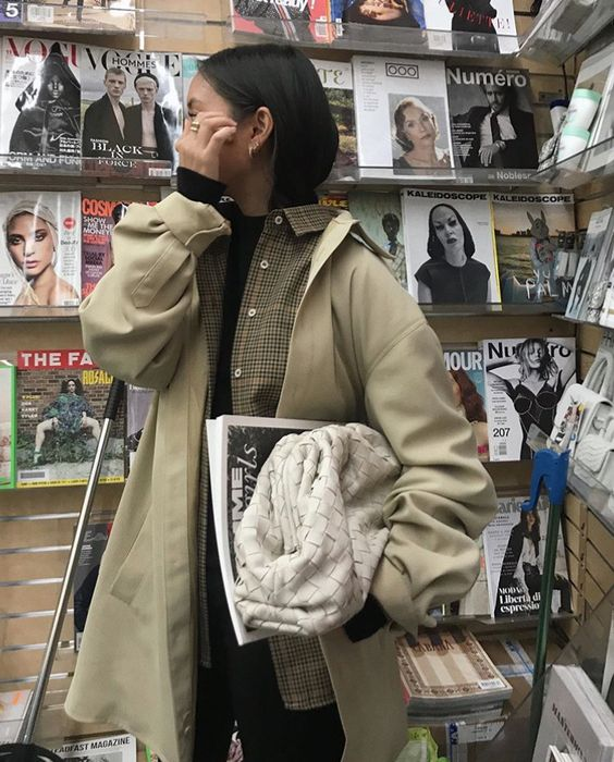 oversized clutches   woven leather neutrals dad coat winter layers   Girlfriend is Better