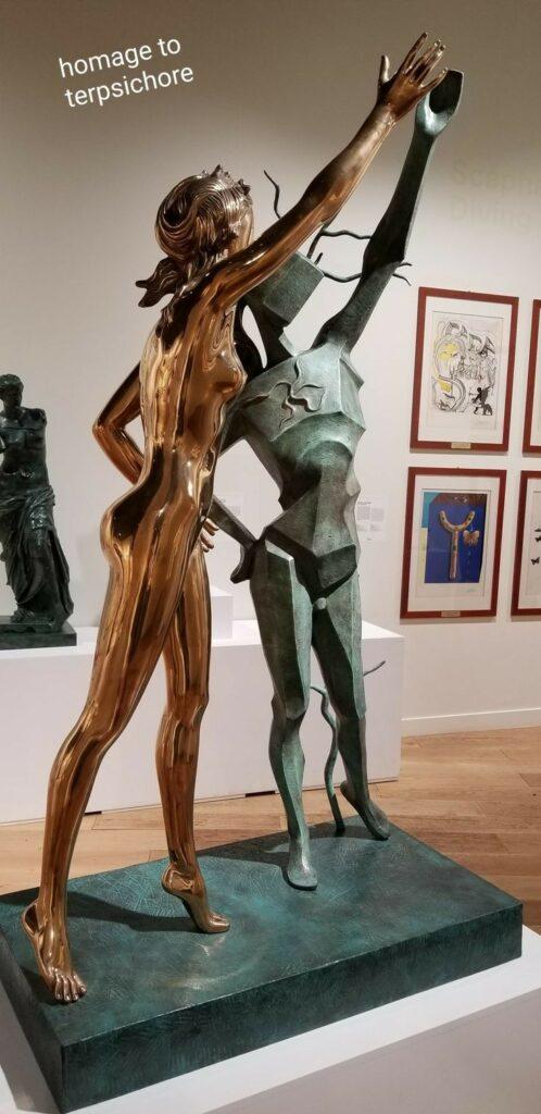Paris 18th arrondissement | Dali Museum Montmartre Homage to Terpsichore sculpture | Girlfriend is Better