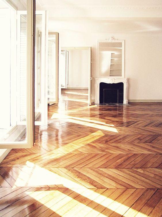 herringbone wood floors | cleaner maintenance cleaning natural soap | Girlfriend is Better