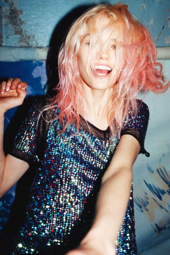 modern grunge | sequin blouse party outfit 90s fashion inspiration | Girlfriend is Better