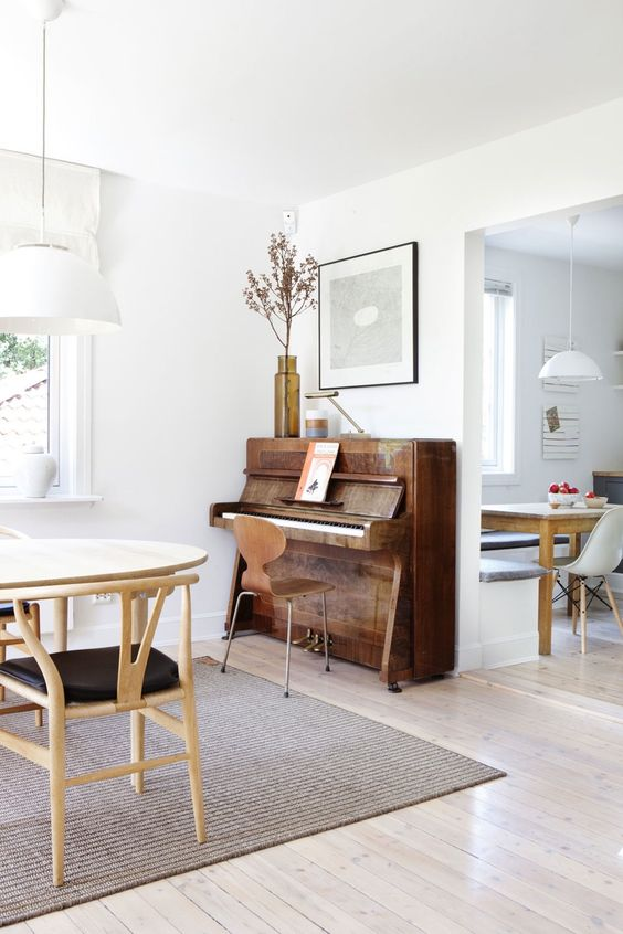 pianos | kitchen Hygge gathering home entertainment | Girlfriend is Better