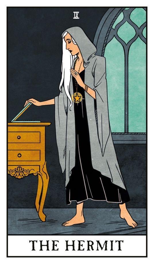 tarot card art   hermit illustration   Girlfriend is Better