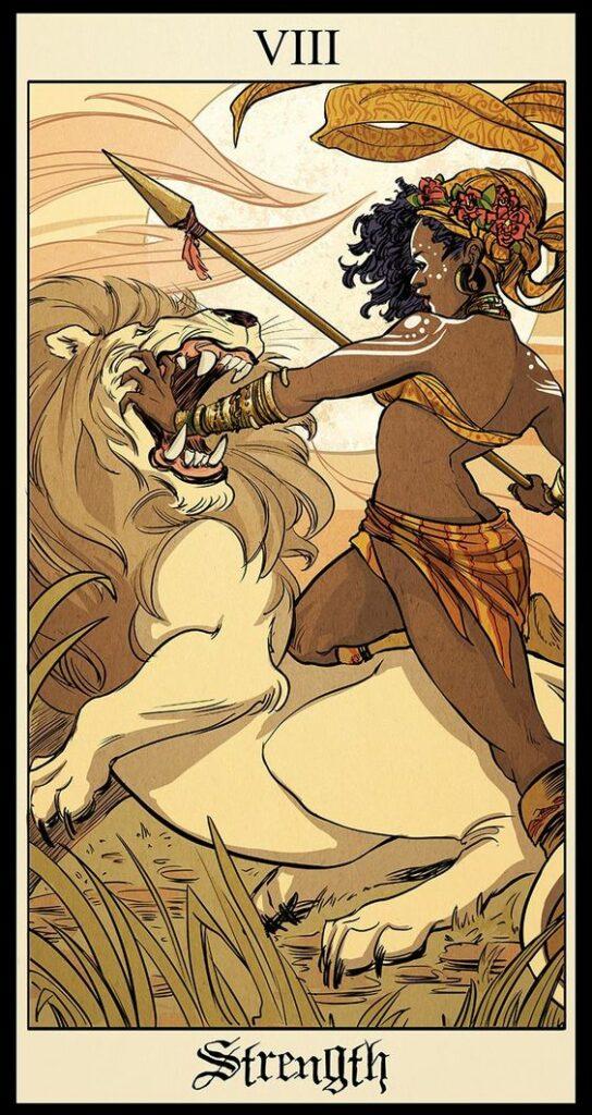 tarot card art   illustration strength   Girlfriend is Better