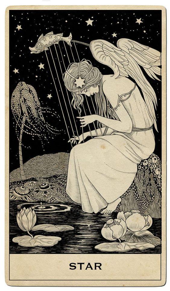 tarot card art   star illustration Halsey campaign Capitol Records   Girlfriend is Better