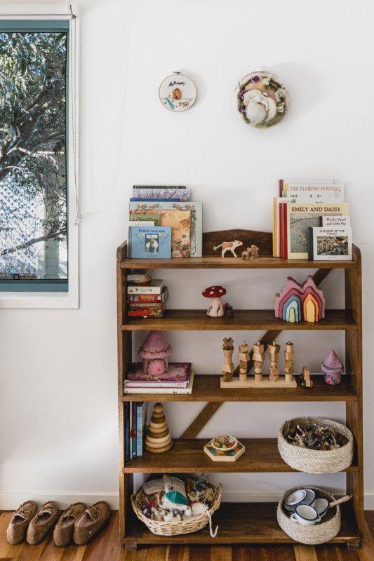 vintage bookshelves   storage organization collectibles entryway bedroom   Girlfriend is Better