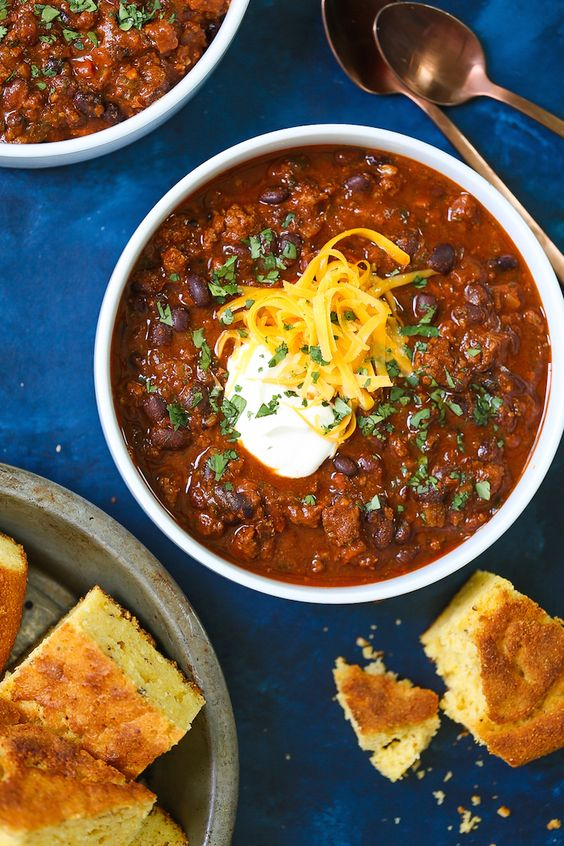 chili recipes   Instant Pot cocoa powder ground beef lager beer corn bread   Girlfriend is Better